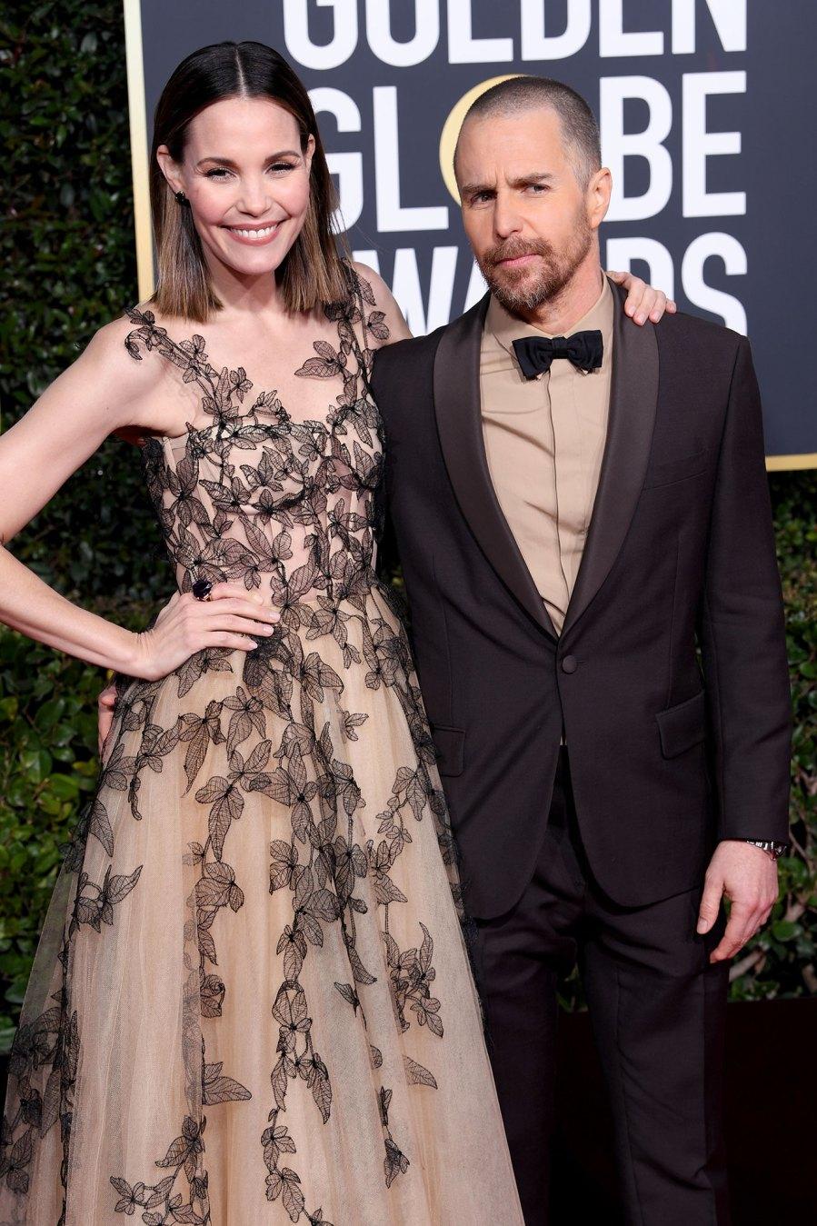January 2019 Golden Globes Sam Rockwell and Leslie Bibb Relationship Timeline