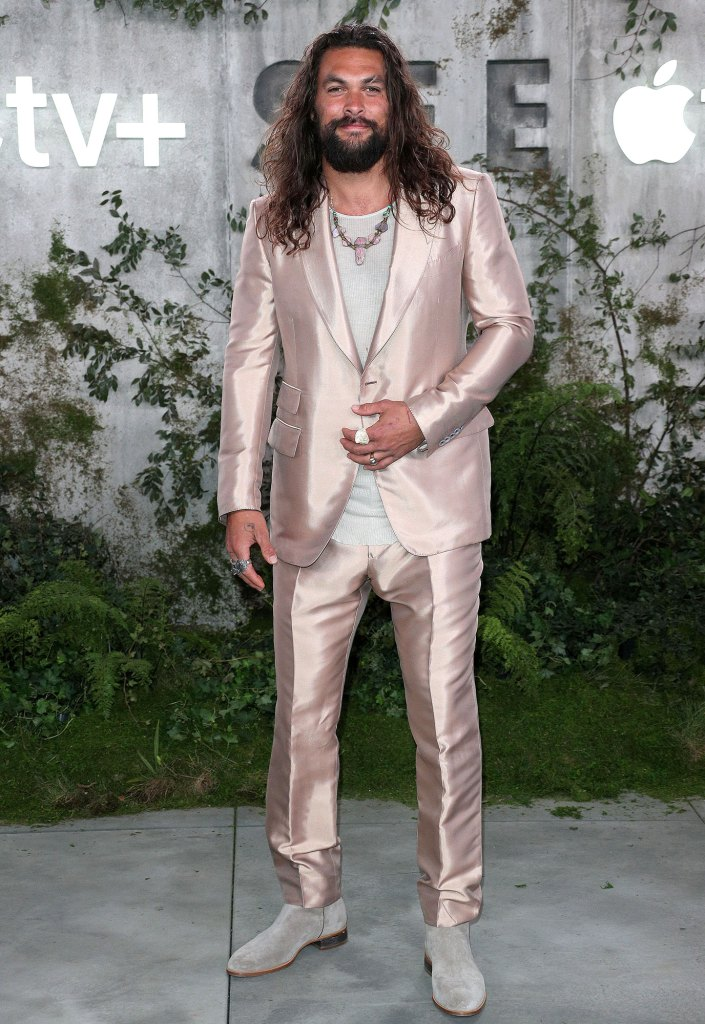 Jason Momoa How to Be a Dad Pink Suit