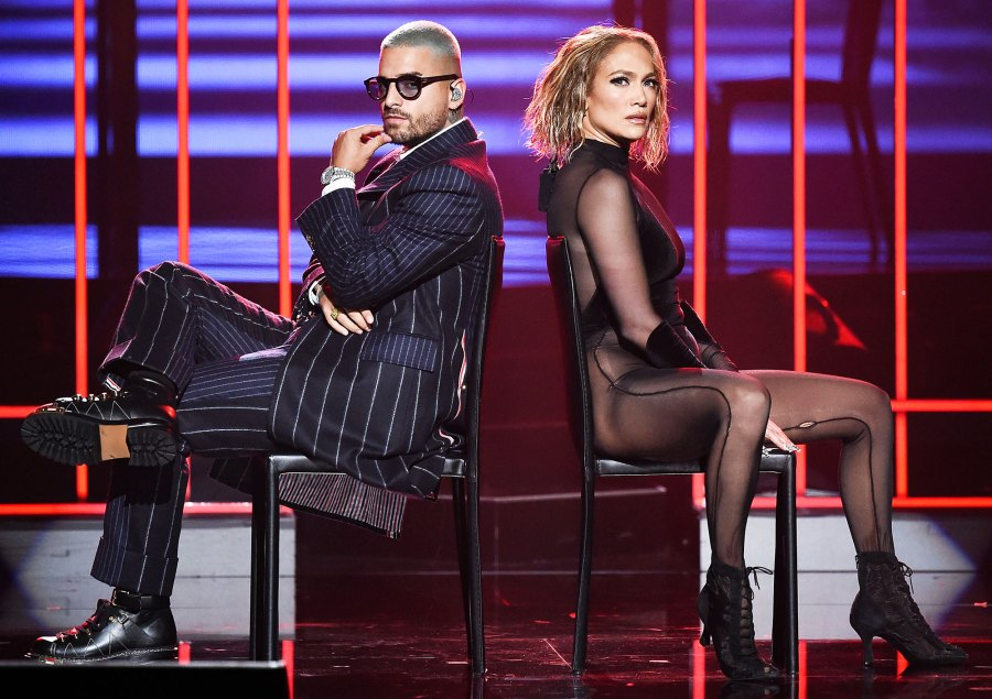 Jennifer Lopez and Maluma Heat Up the Stage at the American Music Awards 2020