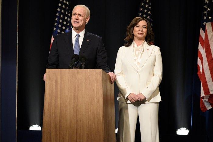 Jim Carrey y Maya Rudolph repiten los roles de Joe Biden y Kamala Harris en 'SNL' después de una histórica victoria