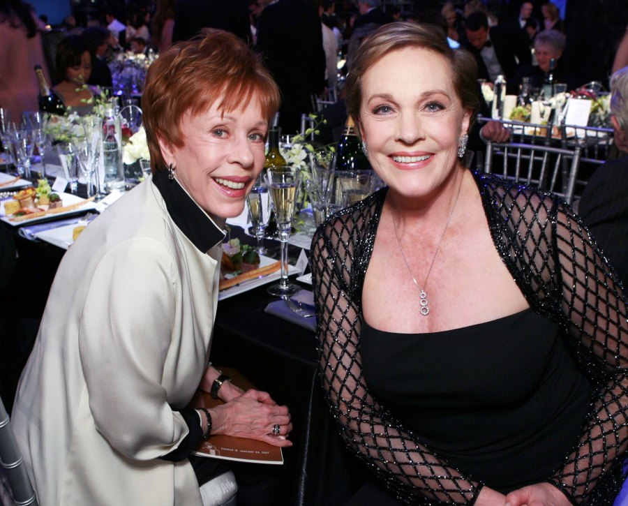 Julie Andrews Recalls Being Caught Kissing Carol Burnett by a Former First Lady