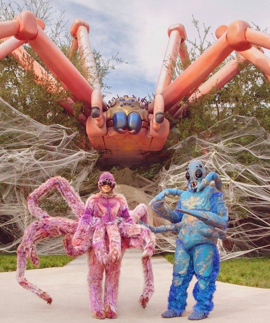 Kim Kardashian and Kanye West Dress as Spiders Celebrating Halloween With 4 Kids: Pics