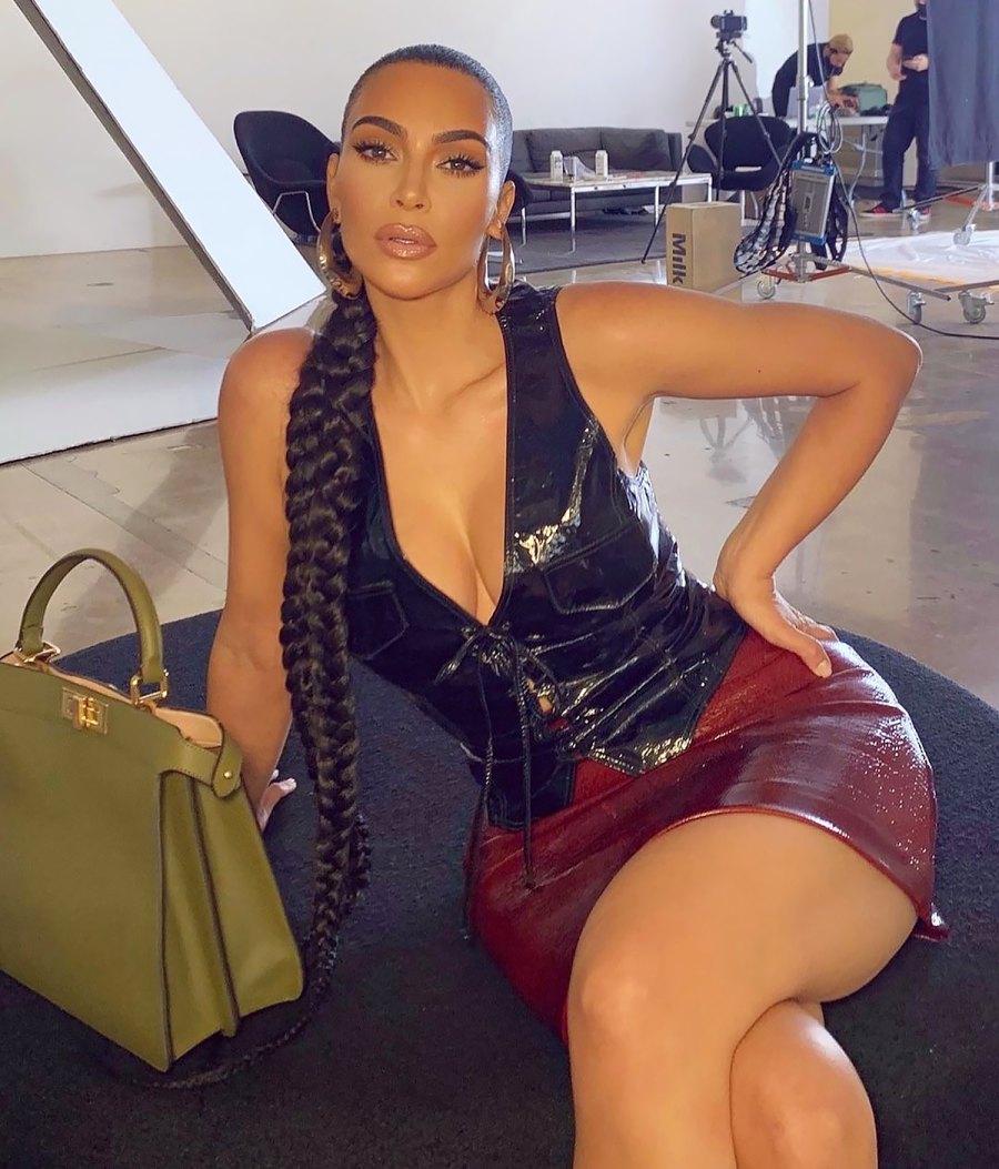 Kim Kardashian's Super-Thick Braid Is Seriously Epic