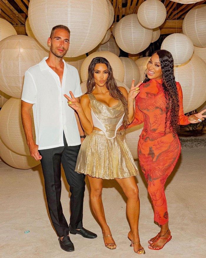 Simon Huck Kim Kardashian y La La Anthony La La Anthony defiende la fiesta de cumpleaños número 40 de la isla privada de Kim Kardashian en medio de una reacción violenta