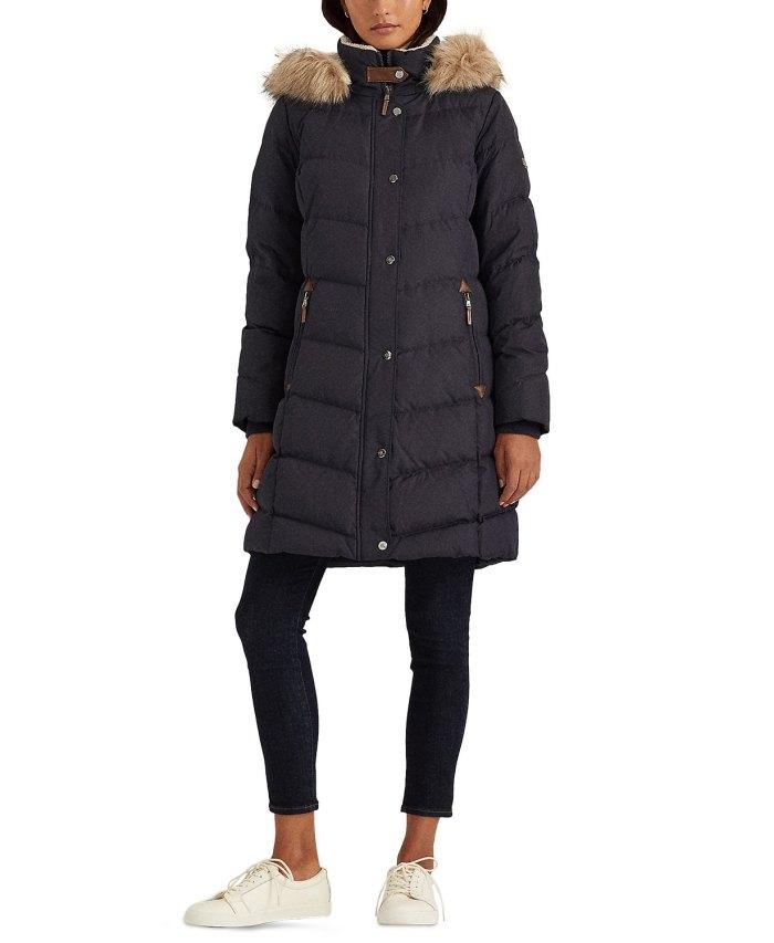 Abrigo de plumón con capucha Lauren Ralph Lauren