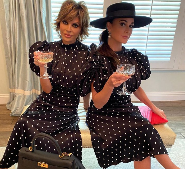 Lisa Rinna and Kyle Richards Twin in Polka Dots: 'Oops We Did It Again'