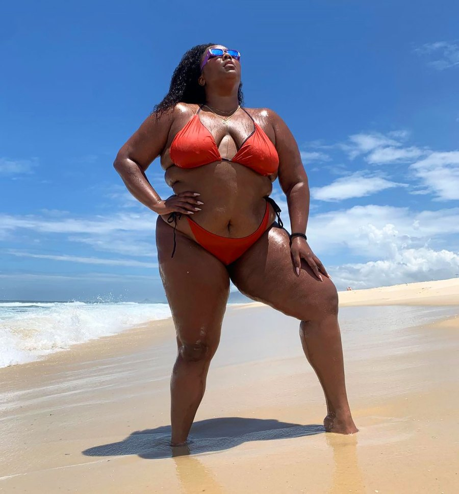 See Lizzo's Hottest Swim Moments
