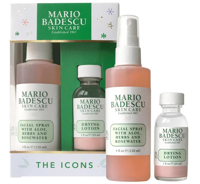Mario Badescu The Icons: Dúo de loción secante y spray facial de rosas