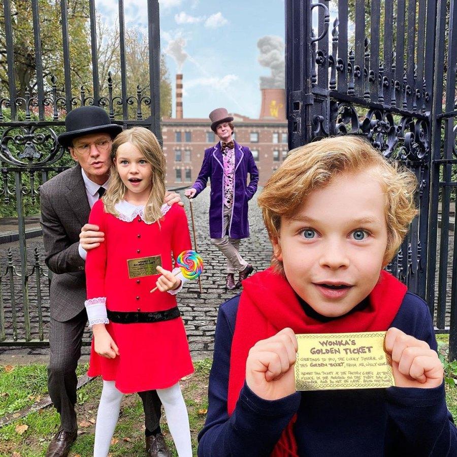 Neil Patrick Harris Family Halloween Costumes Willy Wonka