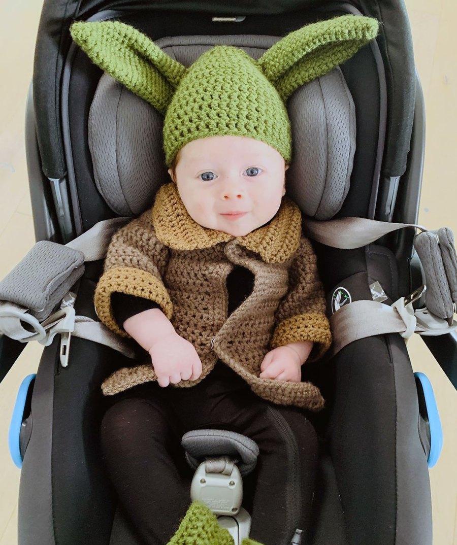 Nikki Bella and Artem Chigvintsev's Son Rocks Baby Yoda Halloween Costume
