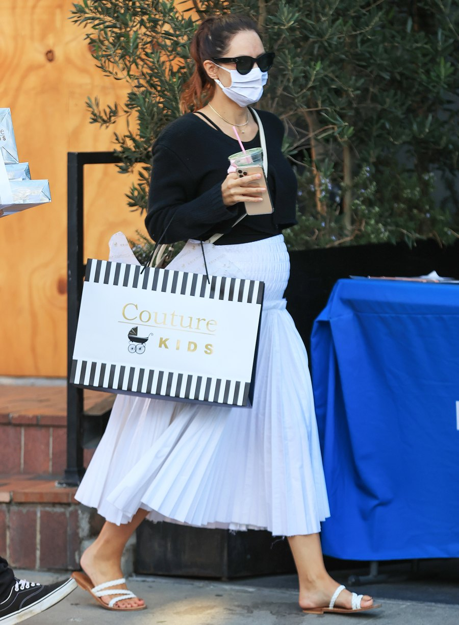 Pregnant Katharine McPhee Cradles Baby Bump on Walk Ahead of 1st Child With David Foster