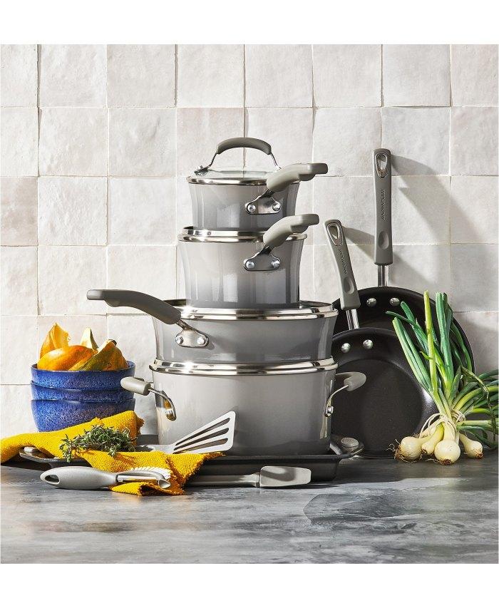 Rachael Ray 14 piezas  Juego de utensilios de cocina antiadherente,