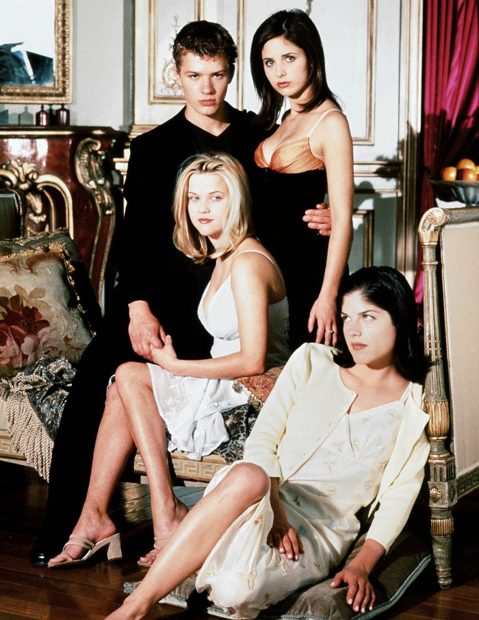 Ryan Phillippe Sarah Michelle Gellar Selma Blair and Reese Witherspoon in Cruel Intentions Ryan Phillippe Says He Thought His Parents Would Disown Him After Cruel Intentions Role
