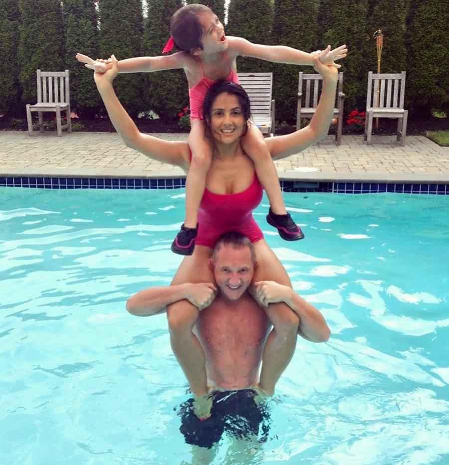 Salma Hayek Has the Cutest Swim Moment in a Rare Family Photo