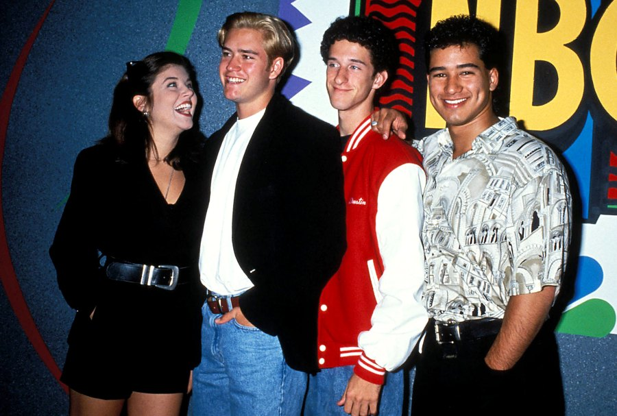 Saved By The Bell Where Are They Now Tiffani Amber Thiessen Mark Paul Gosselaar Dustin Diamond and Mario Lopez