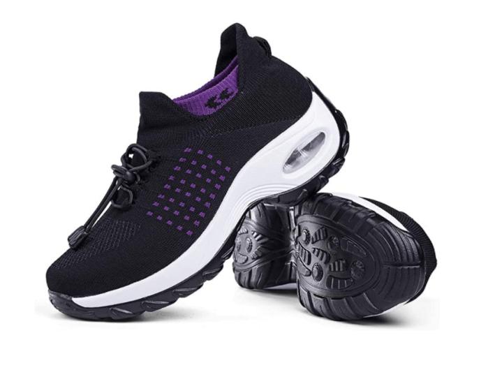 Slow Man Zapatos para caminar para mujer Calcetines Zapatillas