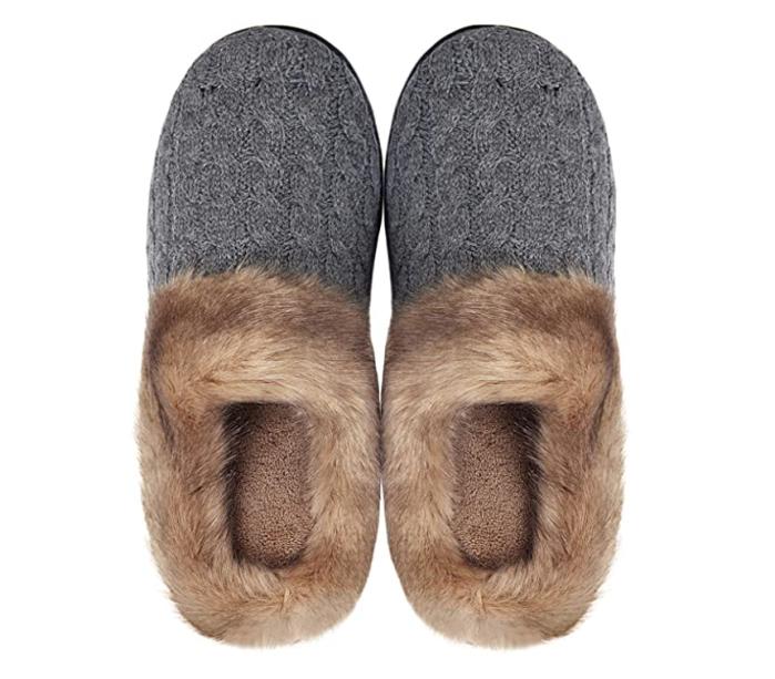 WateLves Women's Memory Foam Plush Fleece Lined Slippers