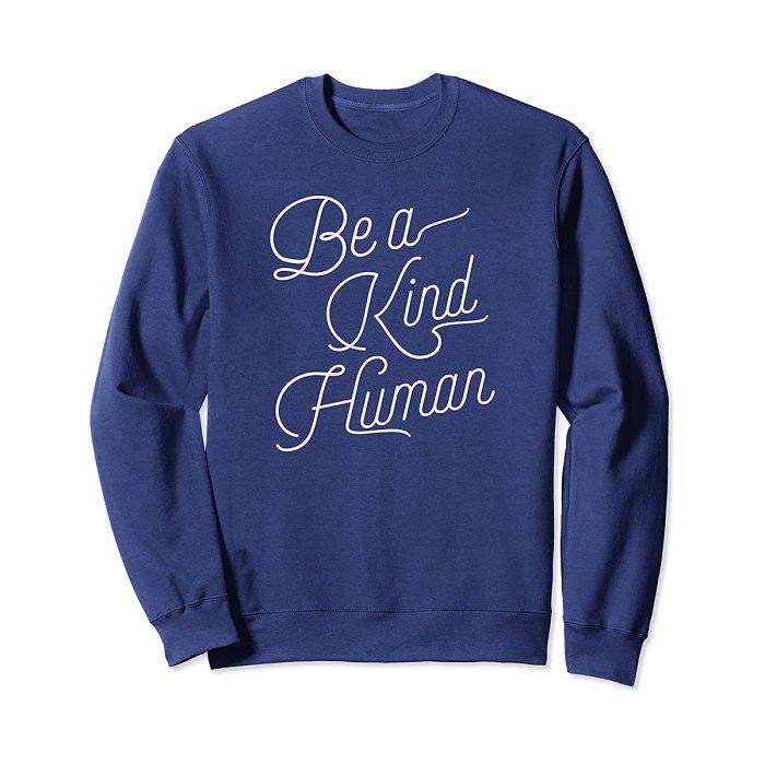 be-a-kind-human-sweatshirt-blue