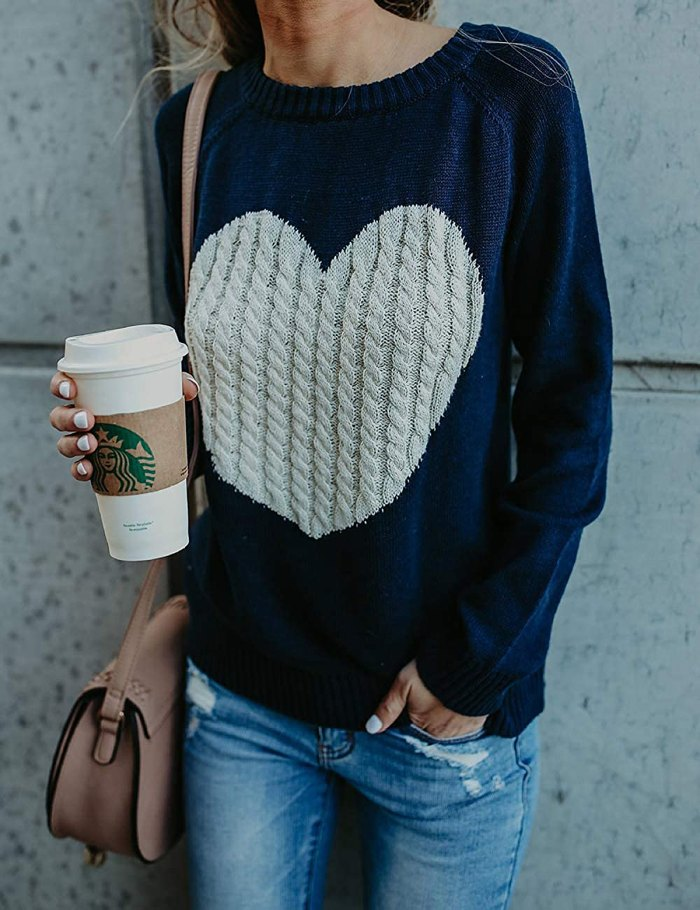Shermie Pullover Cute Heart Sweater