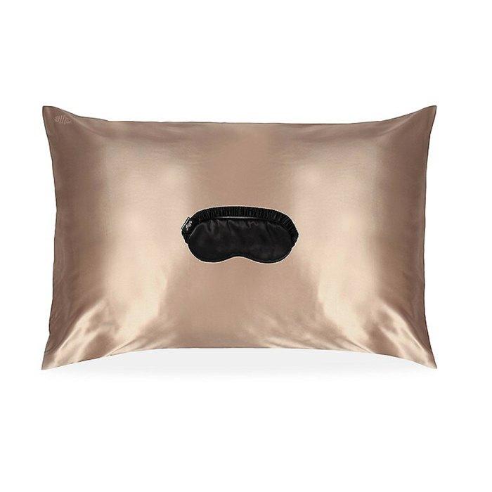 antideslizante funda de almohada de seda antifaz