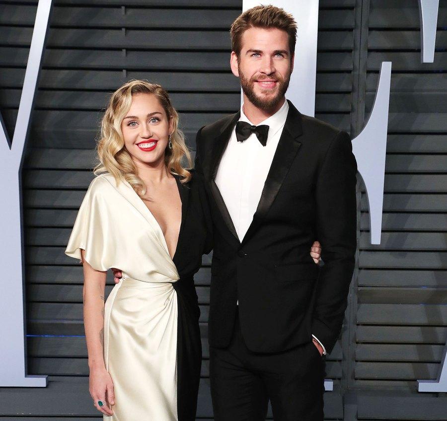 Miley Cyrus and Liam Hemsworth at Vanity Fair Oscar Party 2018 Miley Cyrus Revelations