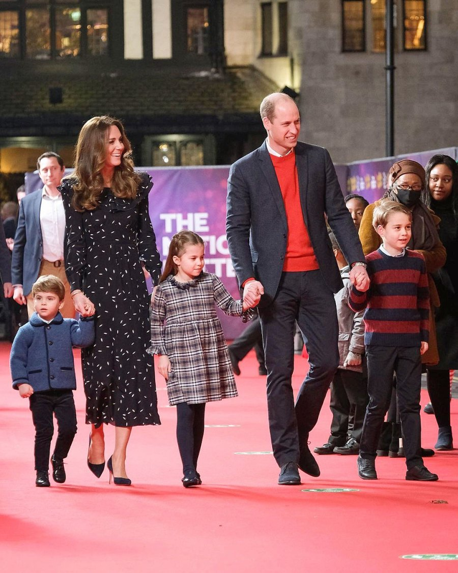 Prince George Princess Charlotte and Prince Louis Walk Their First Red Carpet