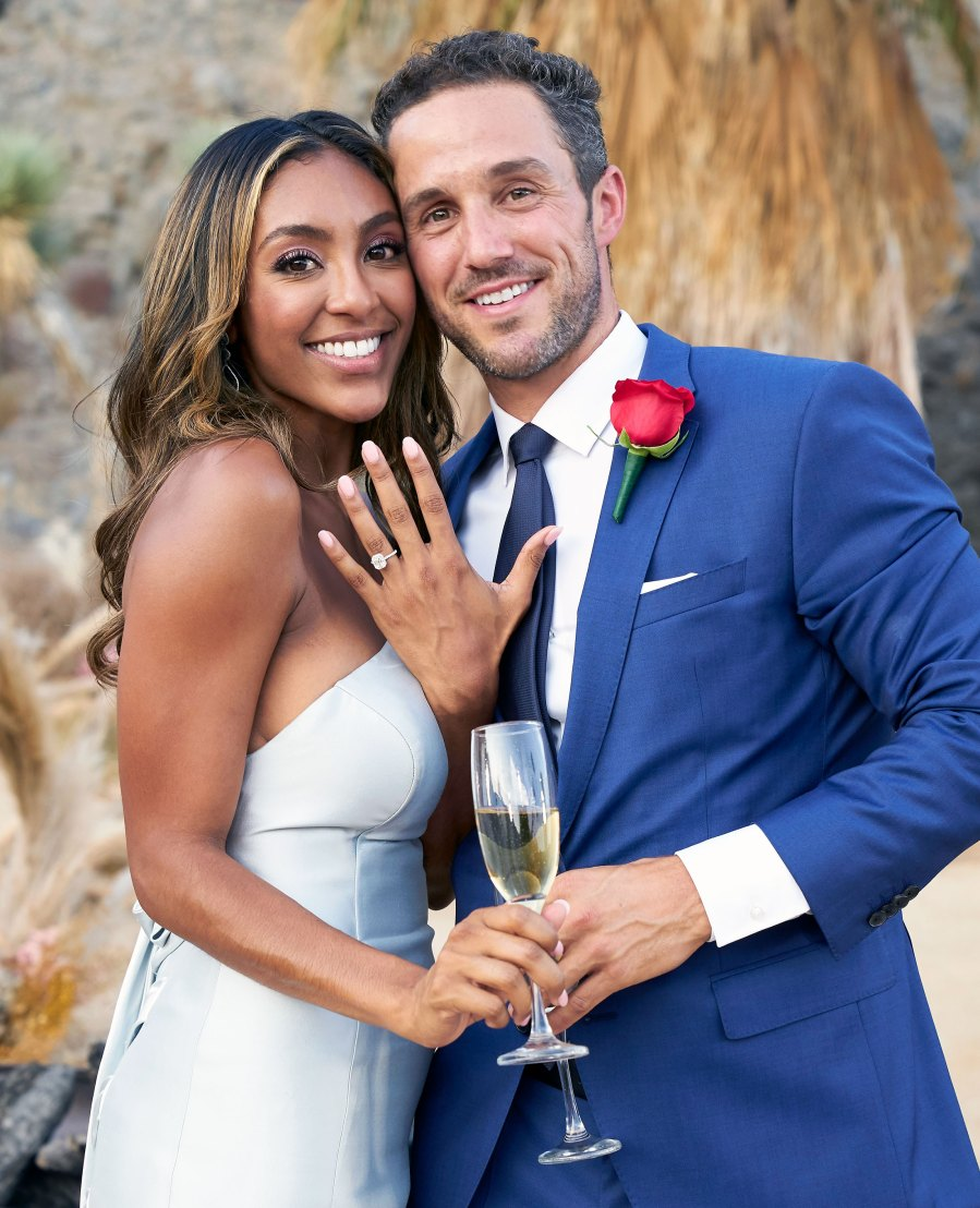 All the Deets on Tayshia Adams' Engagement Ring From Zac Clark