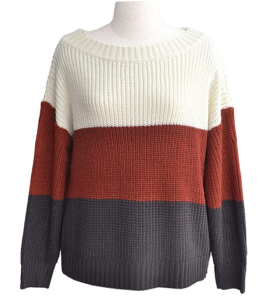 Angashion Women's Casual One Off Shoulder Oversized Pullover Knit Sweater
