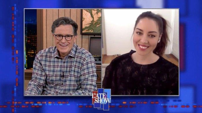 Aubrey Plaza Says Kristen Stewart Got COVID-19 on Set of Happiest Season A Late Show with Stephen Colbert
