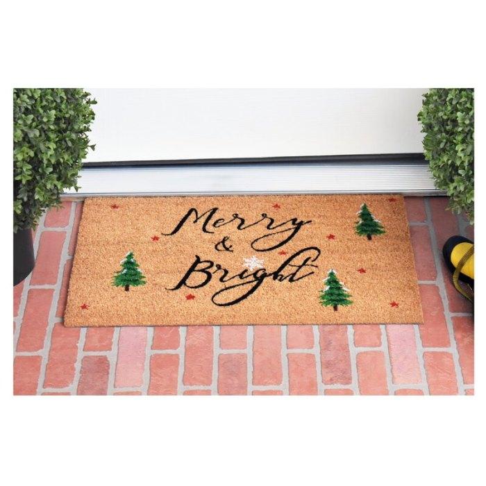 Alfombrilla antideslizante para puerta exterior Hashtag Home Bradly Yule