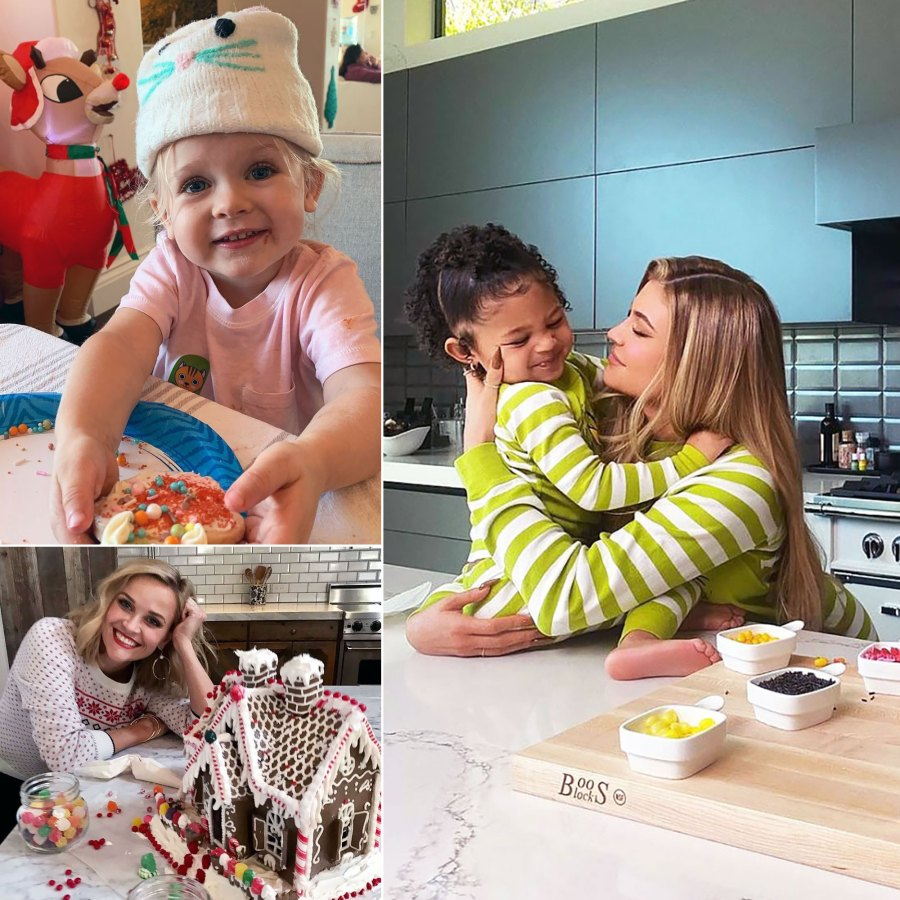 Celebrity Parents Making Holiday Desserts With Their Kids: Cookies, Gingerbread Houses and More
