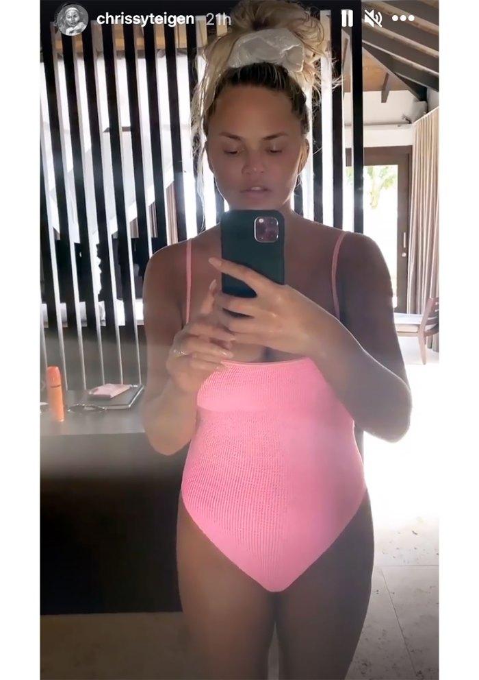 Chrissy Teigen's Hilariously Honest Solution to Her Bathing Suit Struggles