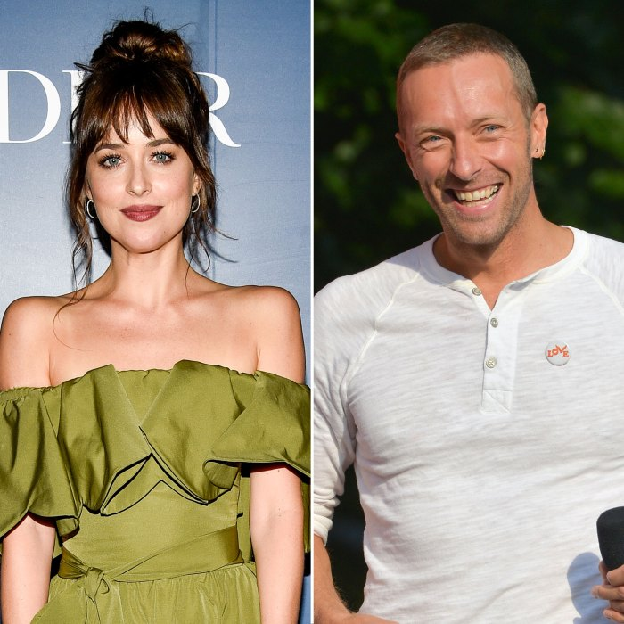Dakota Johnson Sparks Chris Martin Engagement Rumors While Wearing Massive Emerald Ring