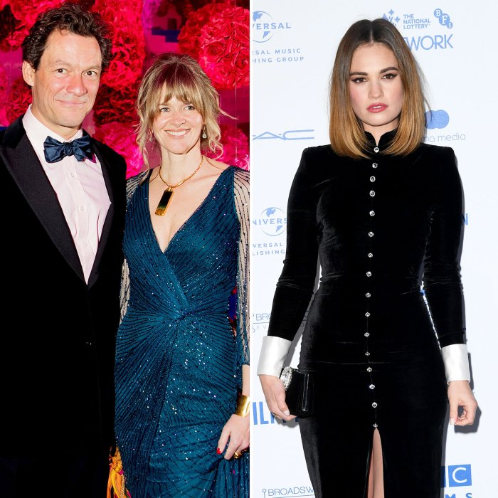 Dominic West Catherine FitzGerald Pose Family Christmas Pic After Lily James Scandal