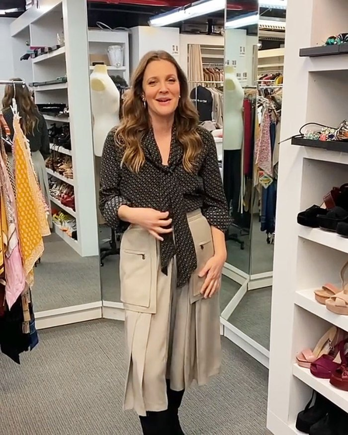 Drew Barrymore Has to Add an Extender to Her Waistband