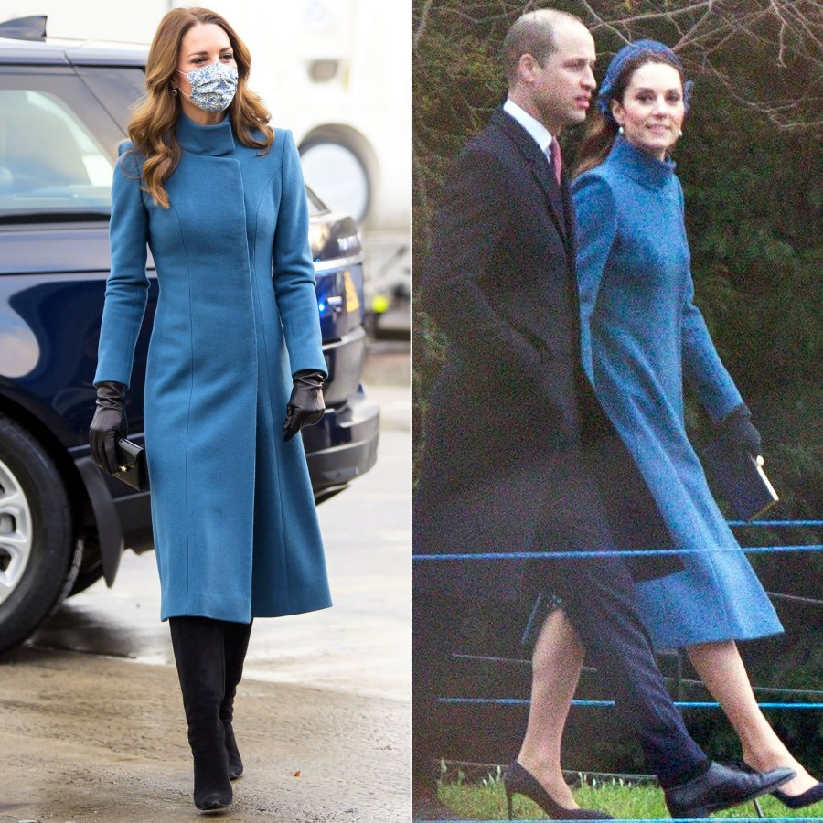 Duchess Kate Rewears a Perfectly Tailored Catherine Walker Coat
