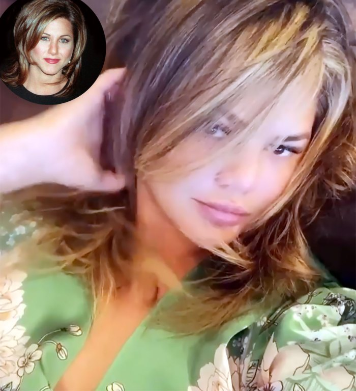 Fans Compare Chrissy Teigen's Haircut to Jennifer Aniston's 'The Rachel'
