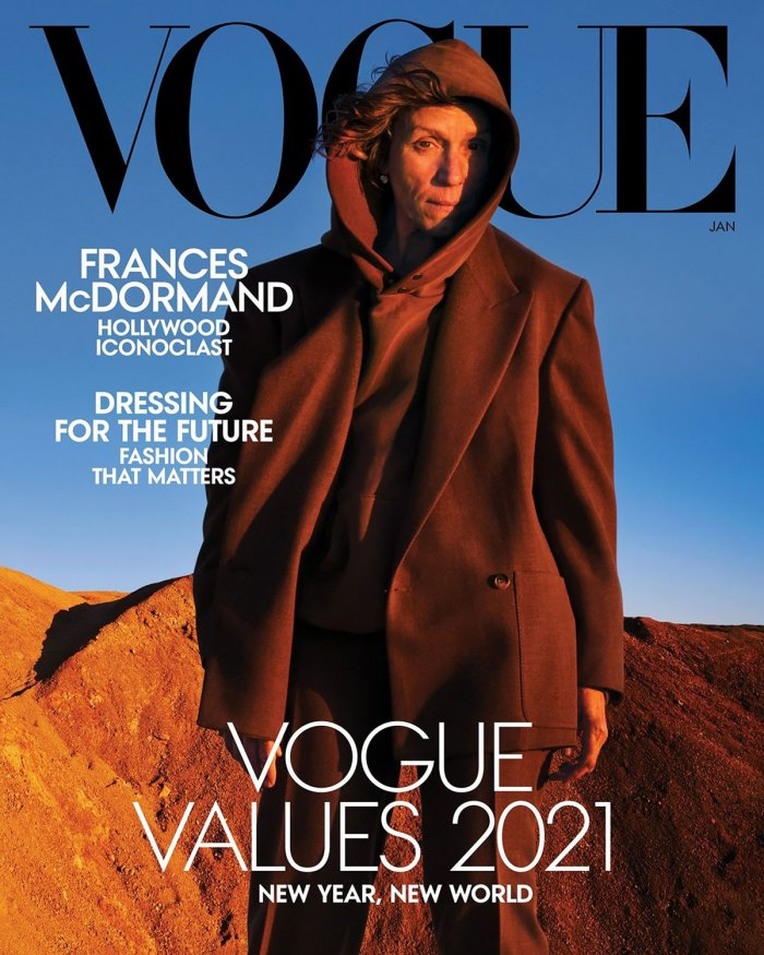 Frances McDormand Appears Makeup-Free on the Cover of 'Vogue'