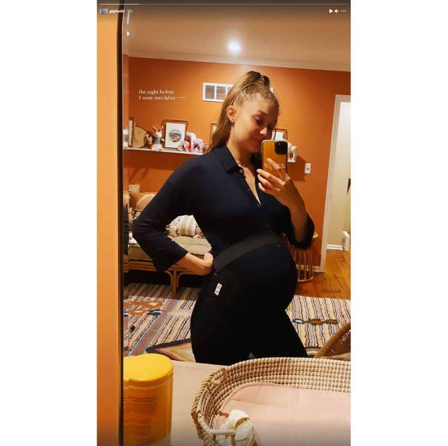 Gigi Hadid Shares Pic of Her Bump the Day Before She Gave Birth Closer Look at Her Nursery