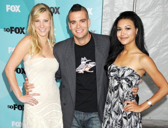 Heather Morris Mark Salling and Naya Rivera in 2009 Glee Alum Heather Morris Slams Offensive Tweet About Mark Salling