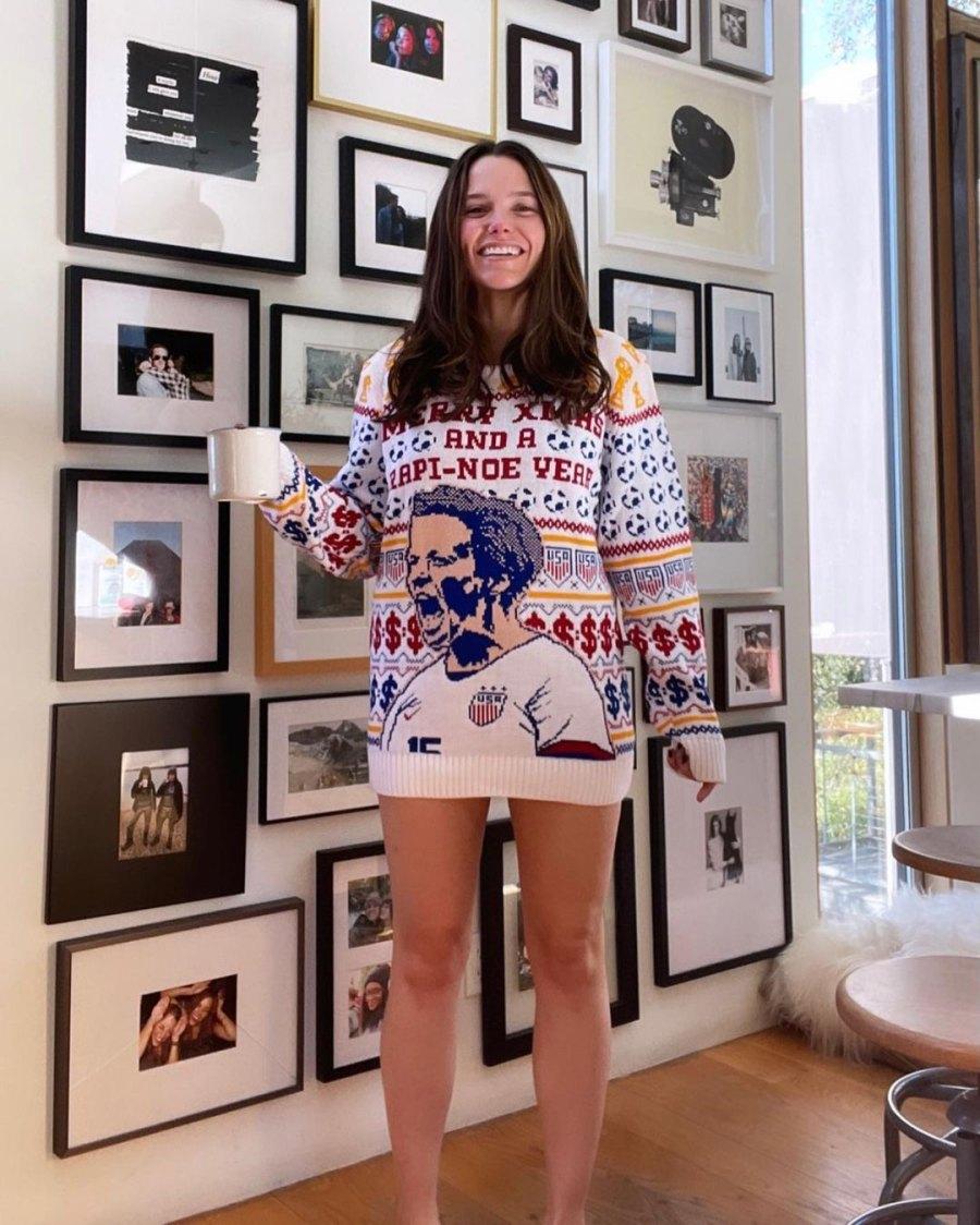 Sophia Bush How Stars Celebrated Christmas 2020