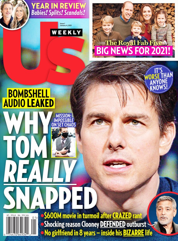 Dentro de Prince William, los planes de vacaciones de la duquesa Kate Us Weekly Issue 0121 Cover Tom Cruise Snaps
