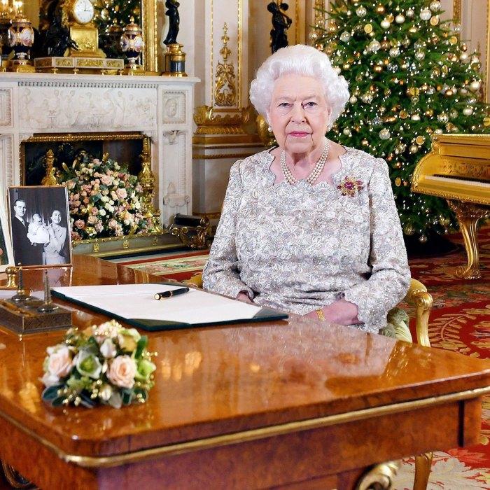 Dentro de las decoraciones navideñas del Castillo de Windsor de la Reina Isabel II