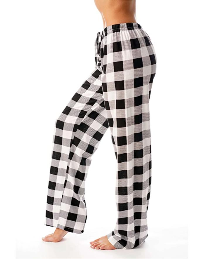 Just Love Mujer Buffalo Plaid Pijama Pantalones Ropa de dormir