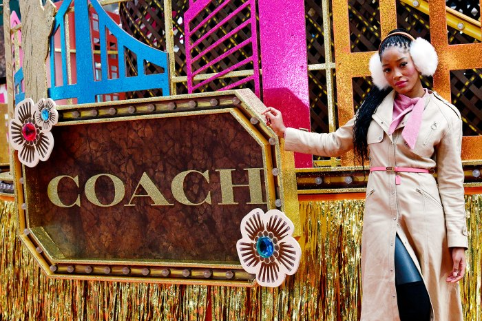 Keke Palmer performing on the Coach float at the Macys Thanksgiving Parade