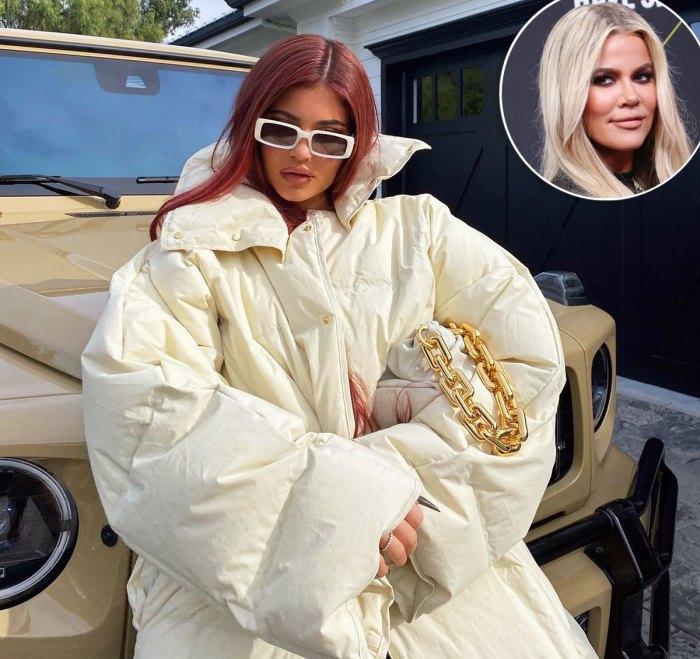 Khloé Kardashian Trolls Kylie Jenner Over Her Enormous Puffer Coat