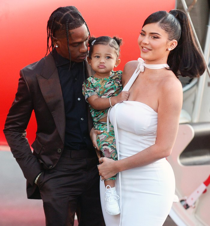 Kylie Jenner and Daughter Stormi Support Travis Scott at His Houston Toy Drive