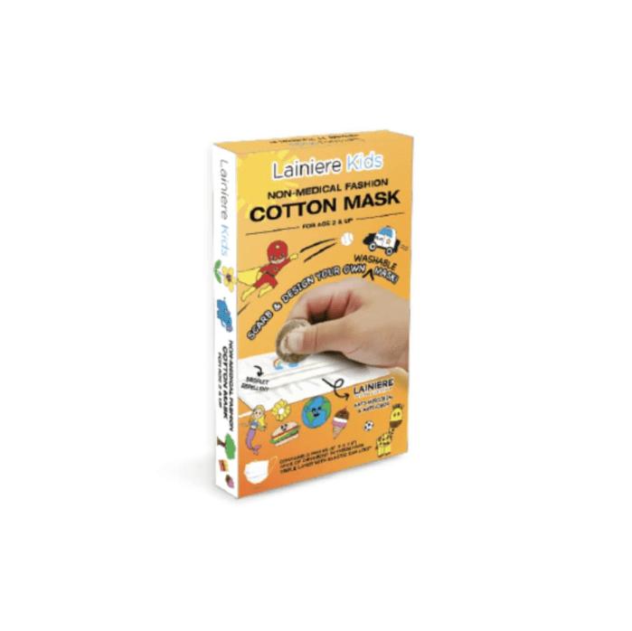 Salud Lainiere |  Mascarilla facial de algodón hecha a mano para niños - Caja de 4