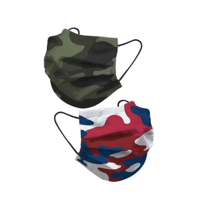Salud Lainiere |  Paquete de mascarilla facial de algodón de camuflaje para hombre (paquete de 8)