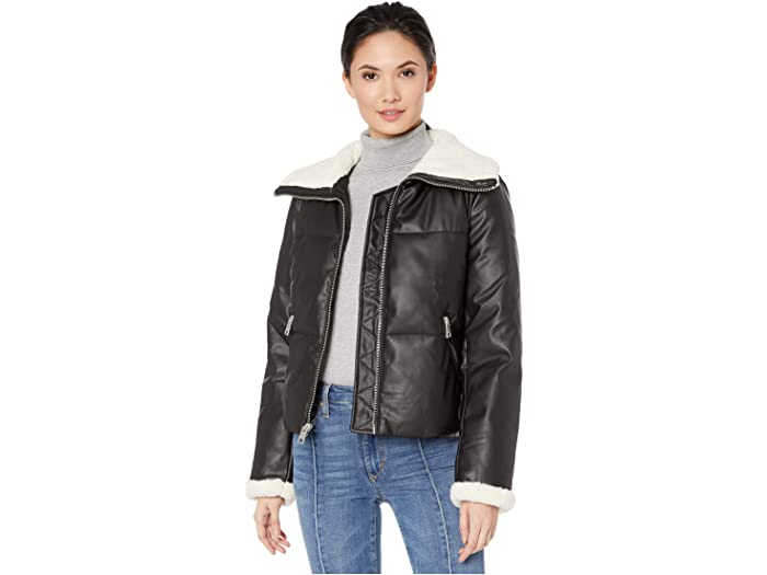 Levi's® Faux Leather Puffer with Sherpa